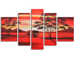 Quadro Decorativo Pôr do sol africano