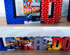 Letras 3D Hot Wheels II