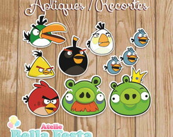 30 Apliques - Angry Birds