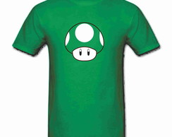 Camiseta Mas Mario Bros 1 up 100% Alg