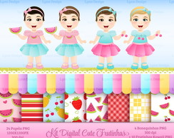 Kit Digital Cute Frutinhas