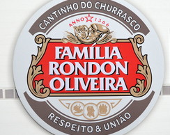 Placa Cantinho Do Churrasco-familia-40cm