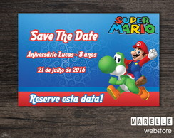 Save the Date Digital - Mário Bros