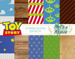 40 Papeis Scrapbook Digital Toy Store