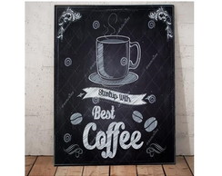 Placa Coffee Madeira 36,5 x 25,5cm