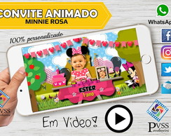 VIDEO CONVITE ANIMADO MINNIE ROSA