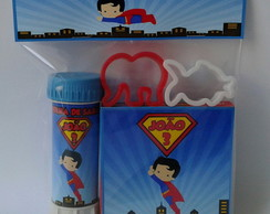 Kit Massinha Modelar + Bolha Superman