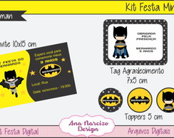Kit Festa Digital Mini - Batman