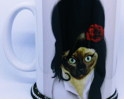 Caneca Gato Amy Winehouse