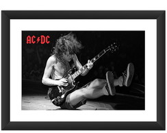 Quadro ACDC Angus Young Banda Rock Guita