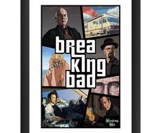 Quadro Breaking Bad GTA Serie Tv Seriado