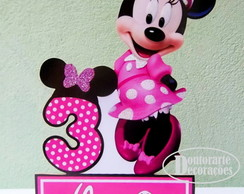 DISPLAY MESA MINNIE ROSA PERSONALIZADA