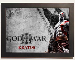 Pôster Com Moldura God Of War kratos