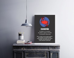 "Placa decorativa ""Signo Escorpião"""