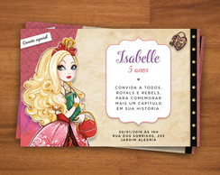 Convite Digital Ever After High