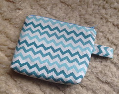 necessarie média chevron azul