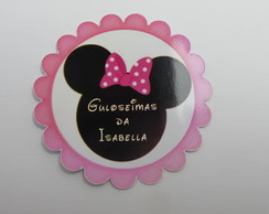 100 Toppers personalizado Minnie rosa