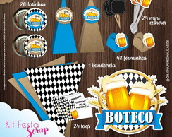 Kit Festa Scrap Boteco Azul