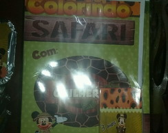 Kit Colorir Mickey Safari
