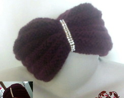 Touca Turbante Strass de Tricot