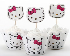Saia Forma de Cupcake Hello Kitty