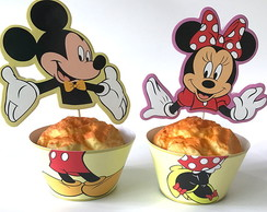Saia de Cupcake + Topper Mickey e Minnie