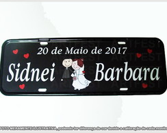 PLACA DE CARRO DECORATIVA