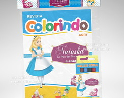Kit Colorir Alice + Brindes