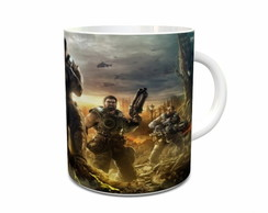 Caneca de Porcelana do Gears of War M06