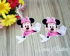 Aplique Tubete Minnie Rosa