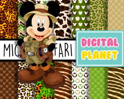 Papel Digital - Mickey Safari