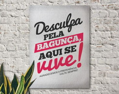 Placa decorativa Aqui se vive
