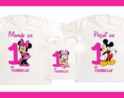 Kit 3 camisetas minnie rosa 1