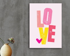 Placa decorativa Love III