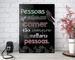 Placa decorativa Comer, comer