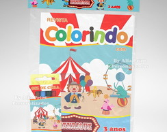 Kit Colorir Circo + Brindes
