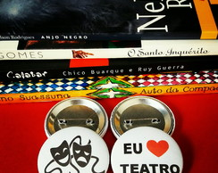Kit (2) Buttons (broches): Teatro