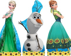Kit 3 Centro de Mesa Frozen Fever