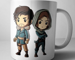 Caneca Star Wars Jyn e Cassian Rogue One