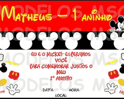 Convite do MIckey