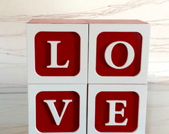 Cubos decorativos - LOVE- 8x8x8cm