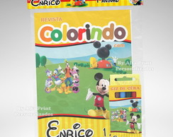 Kit Colorir Casa Do Mickey + Brindes