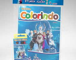 Kit Colorir Frozen + Brindes