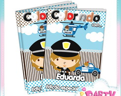 Revista de colorir Policial