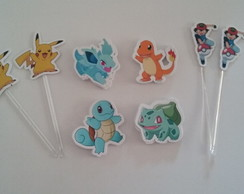 Aplique/Toppers Tema Pokemon