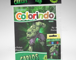 Kit Colorir Hulk + Brindes