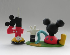 Topo - Casa do Mickey Mouse com a vela