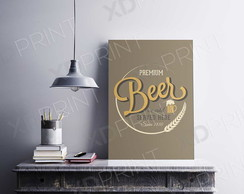 Quadro Placa Decorativa MDF - Beer