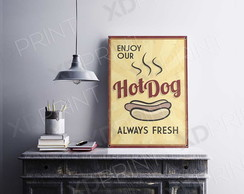 Quadro Placa Decorativo MDF- Hot Dog