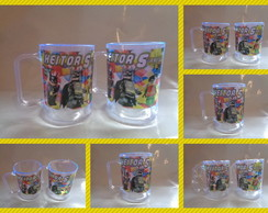 Caneca Acrilica de 300ml Batman Lego